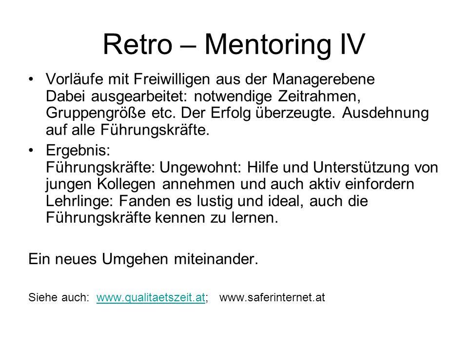 Retro – Mentoring IV