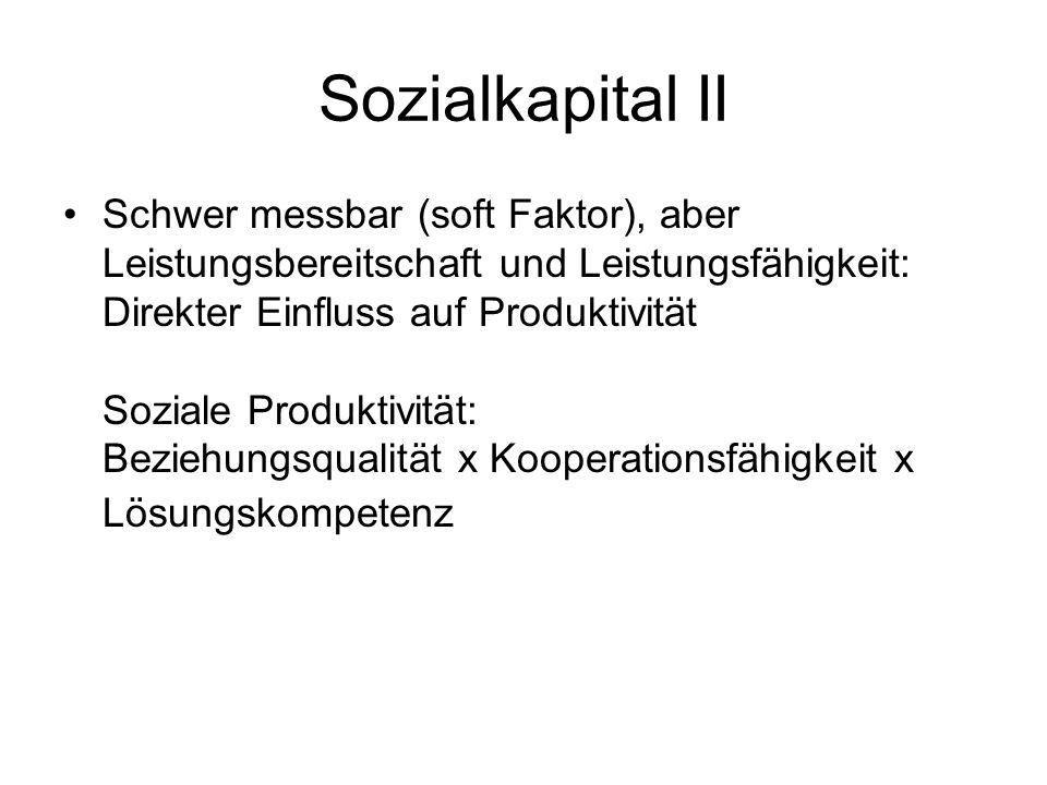 Sozialkapital II