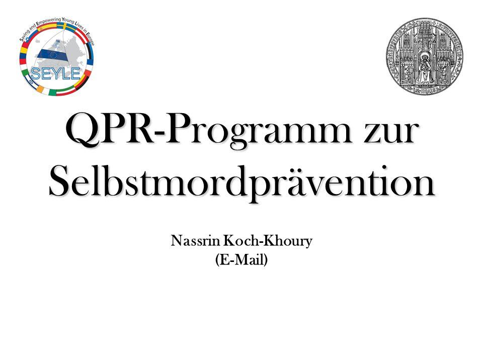 QPR-Programm zur Selbstmordprävention