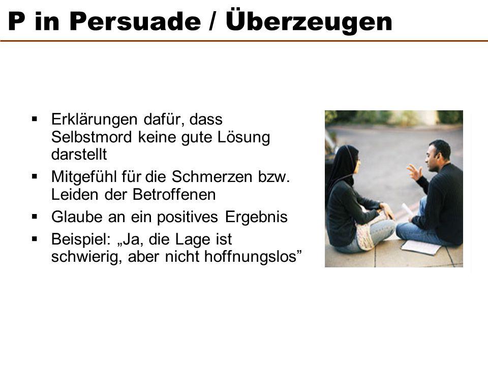 P in Persuade / Überzeugen