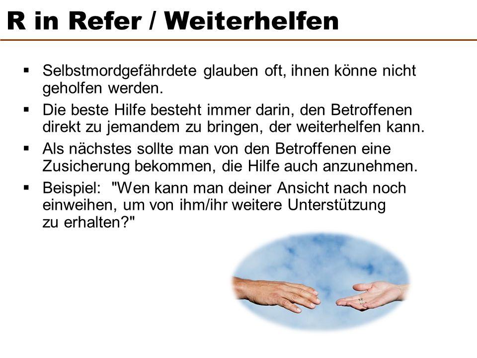 R in Refer / Weiterhelfen