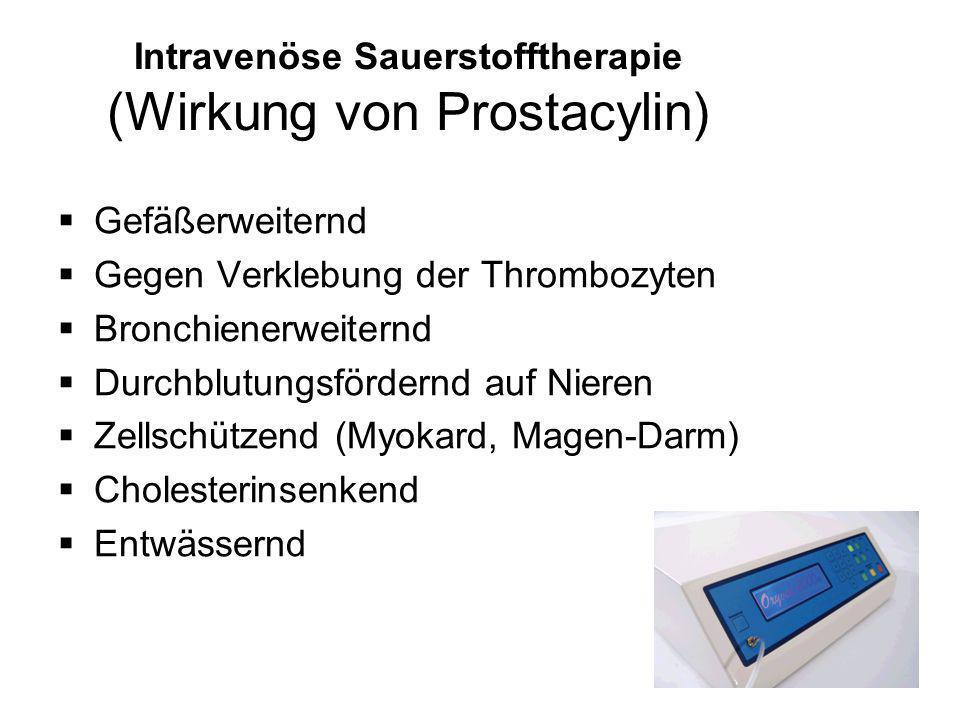 Intravenöse Sauerstofftherapie (Wirkung von Prostacylin)