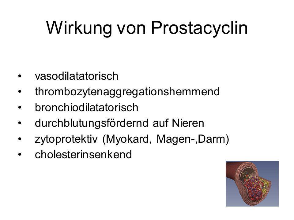 Wirkung von Prostacyclin