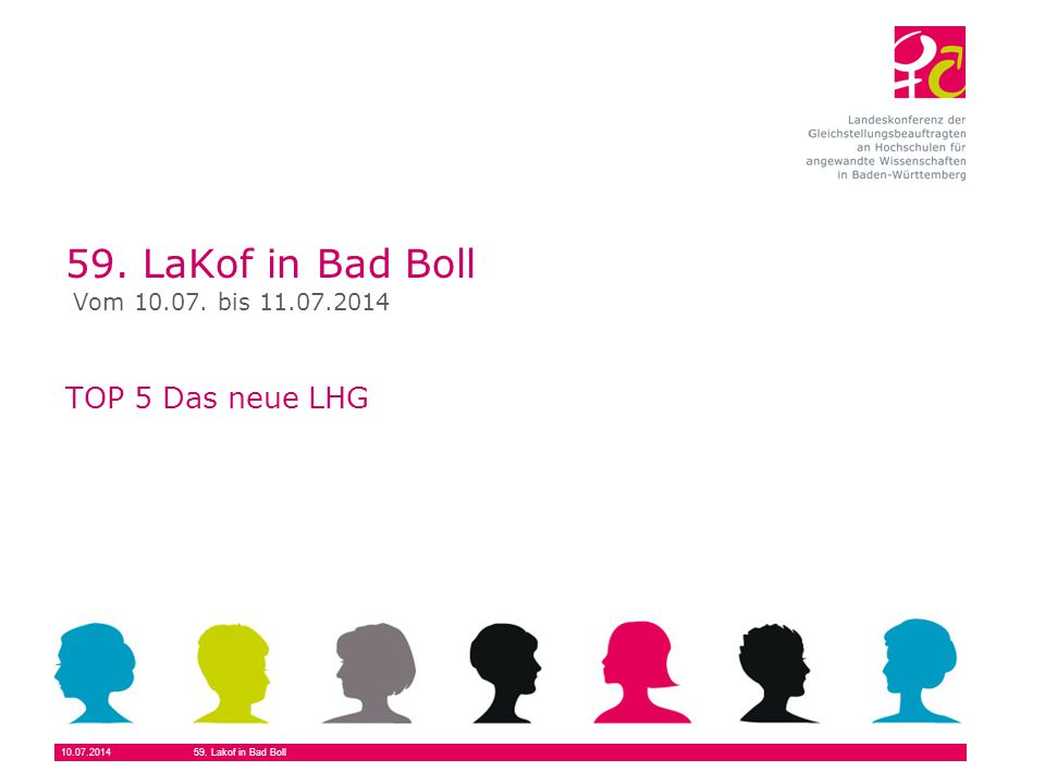 59. LaKof in Bad Boll TOP 5 Das neue LHG