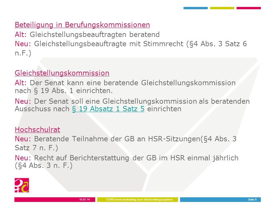 Beteiligung in Berufungskommissionen