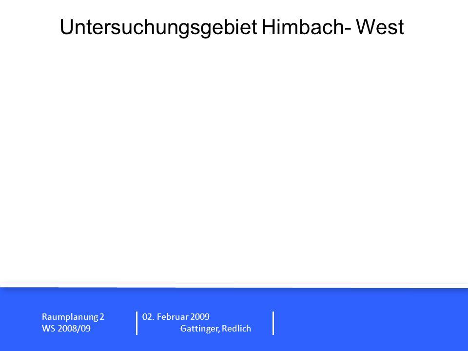 Untersuchungsgebiet Himbach- West