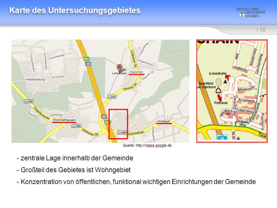 Karte des Untersuchungsgebietes
