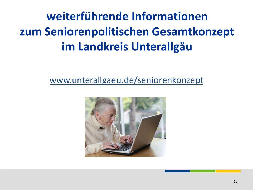 weiterführende Informationen zum Seniorenpolitischen Gesamtkonzept im Landkreis Unterallgäu