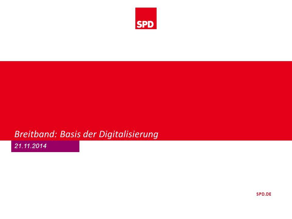 Breitband: Basis der Digitalisierung