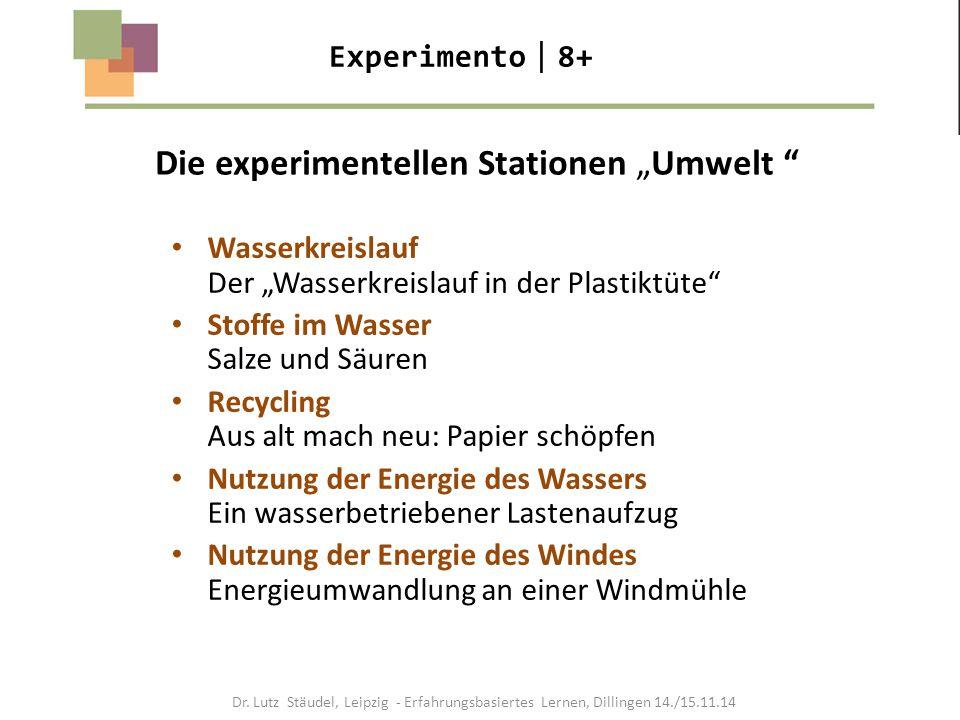 """Die experimentellen Stationen """"Umwelt"""
