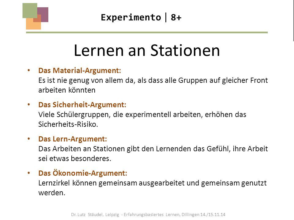 Lernen an Stationen Experimento8+