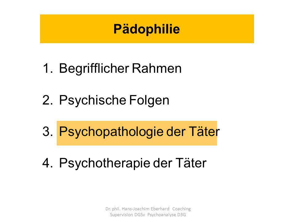 Psychopathologie der Täter Psychotherapie der Täter