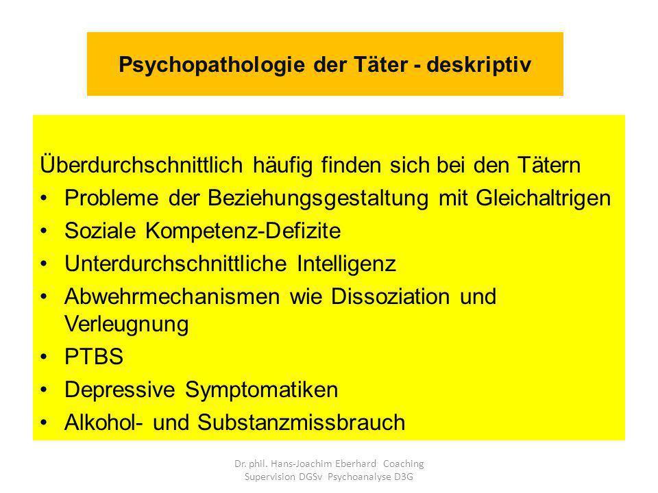 Psychopathologie der Täter - deskriptiv