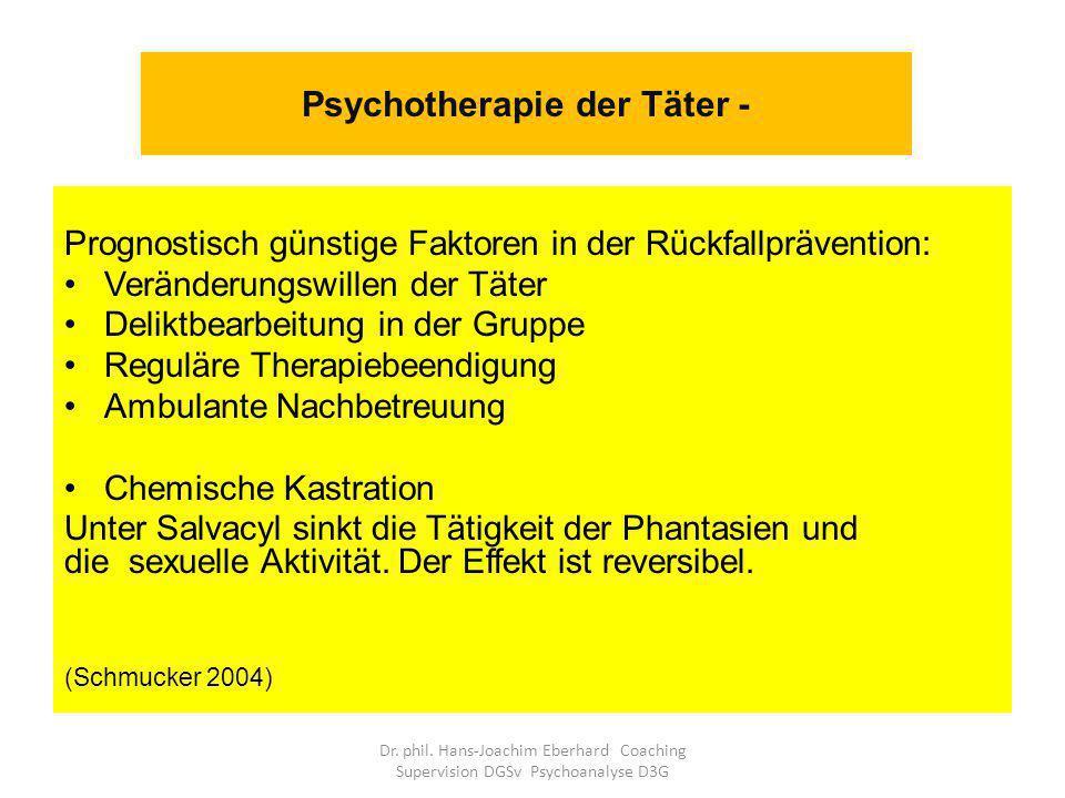 Psychotherapie der Täter -