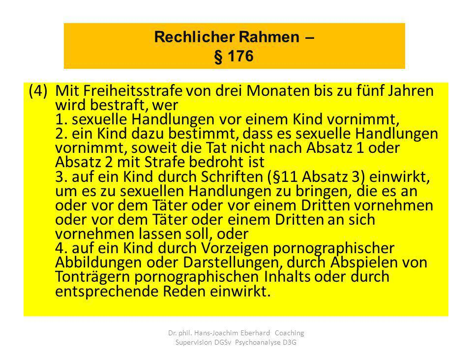 Rechlicher Rahmen – § 176