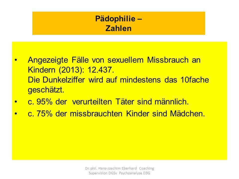 c. 95% der verurteilten Täter sind männlich.