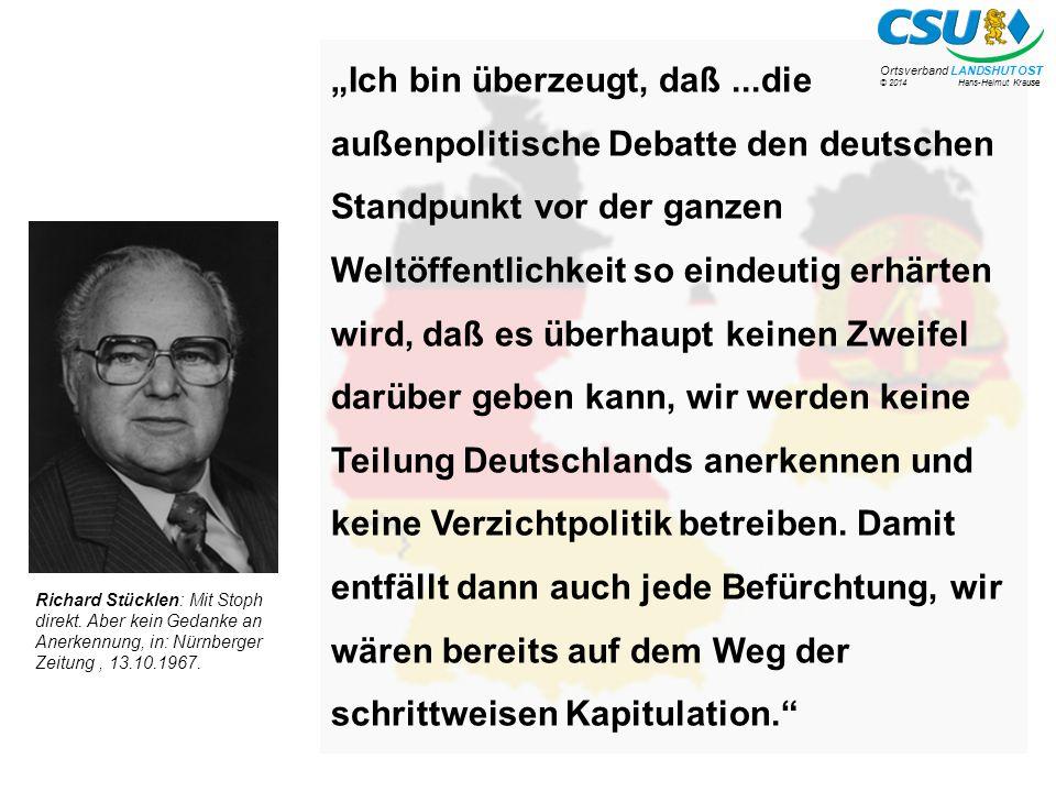 © 2014 Hans-Helmut Krause Ortsverband LANDSHUT OST.
