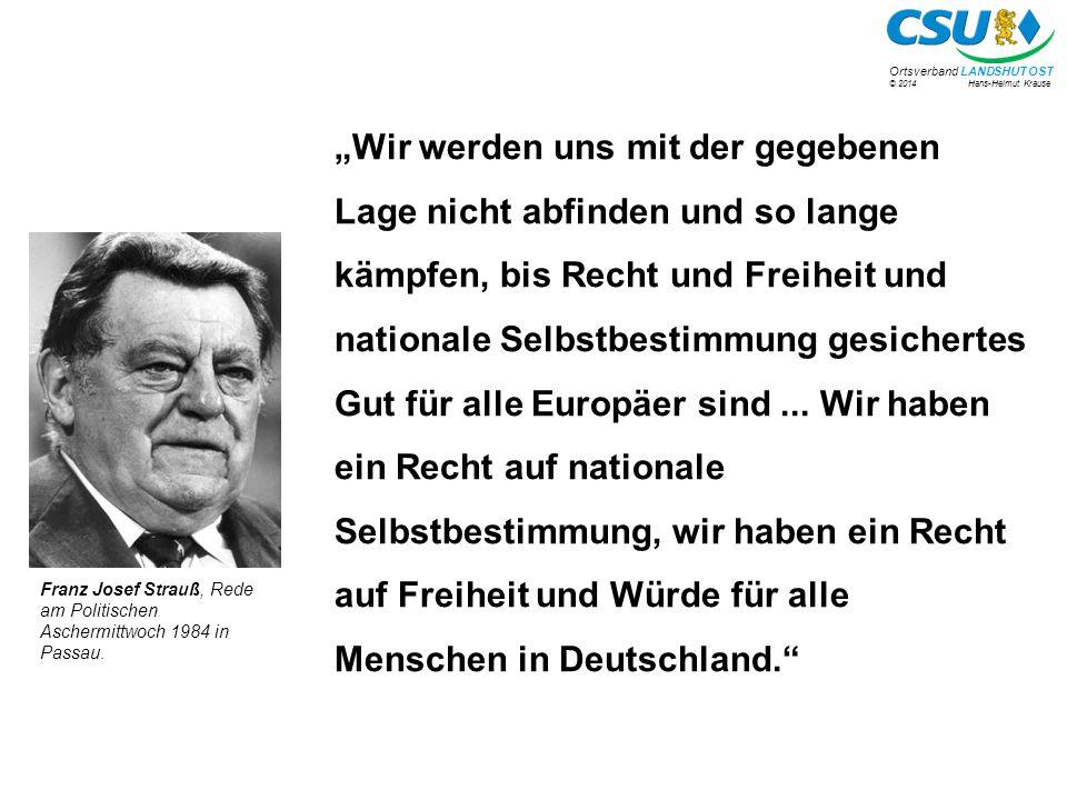 """""""Wir werden uns mit der gegebenen Lage nicht abfinden und so lange kämpfen, bis Recht und Freiheit und nationale Selbstbestimmung gesichertes Gut für alle Europäer sind ... Wir haben ein Recht auf nationale Selbstbestimmung, wir haben ein Recht auf Freiheit und Würde für alle Menschen in Deutschland."""