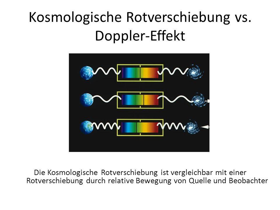Kosmologische Rotverschiebung vs. Doppler-Effekt