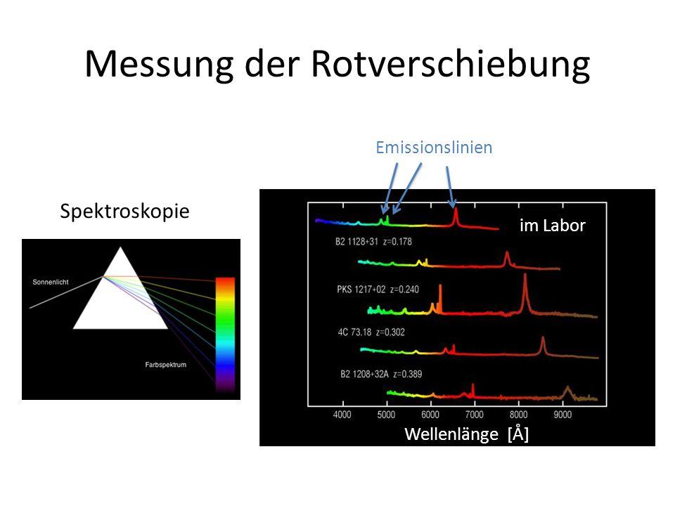 Messung der Rotverschiebung