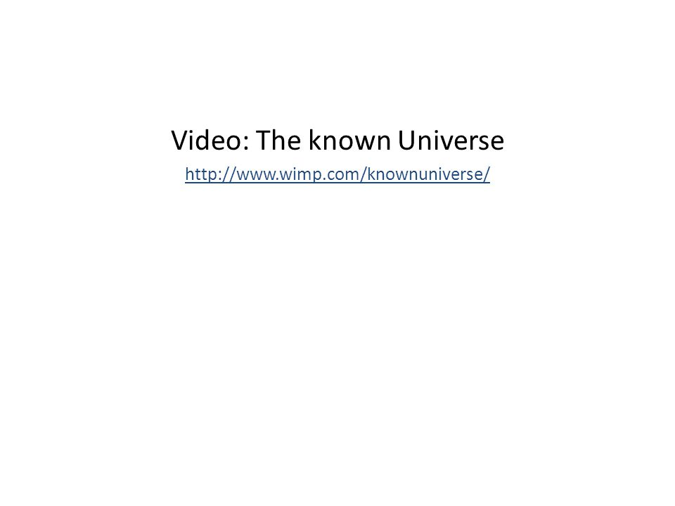 Video: The known Universe