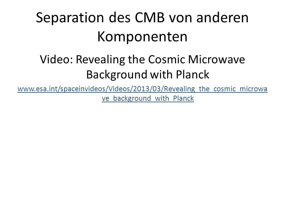 Separation des CMB von anderen Komponenten