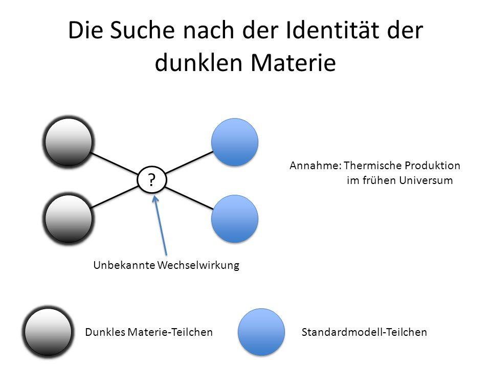 Die Suche nach der Identität der dunklen Materie