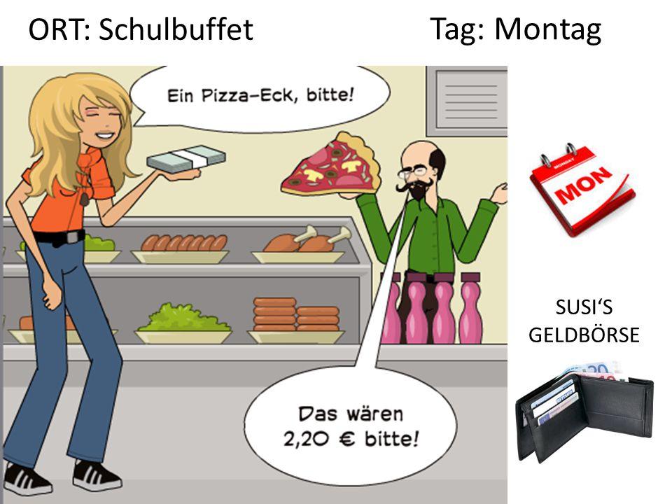 ORT: Schulbuffet Tag: Montag SUSI'S GELDBÖRSE