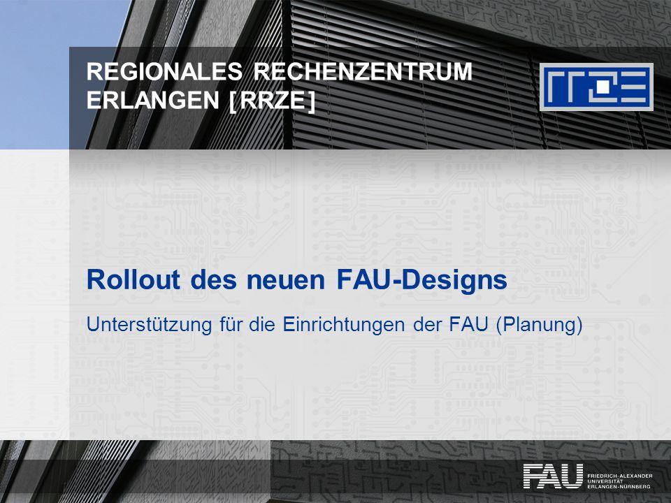 Rollout des neuen FAU-Designs