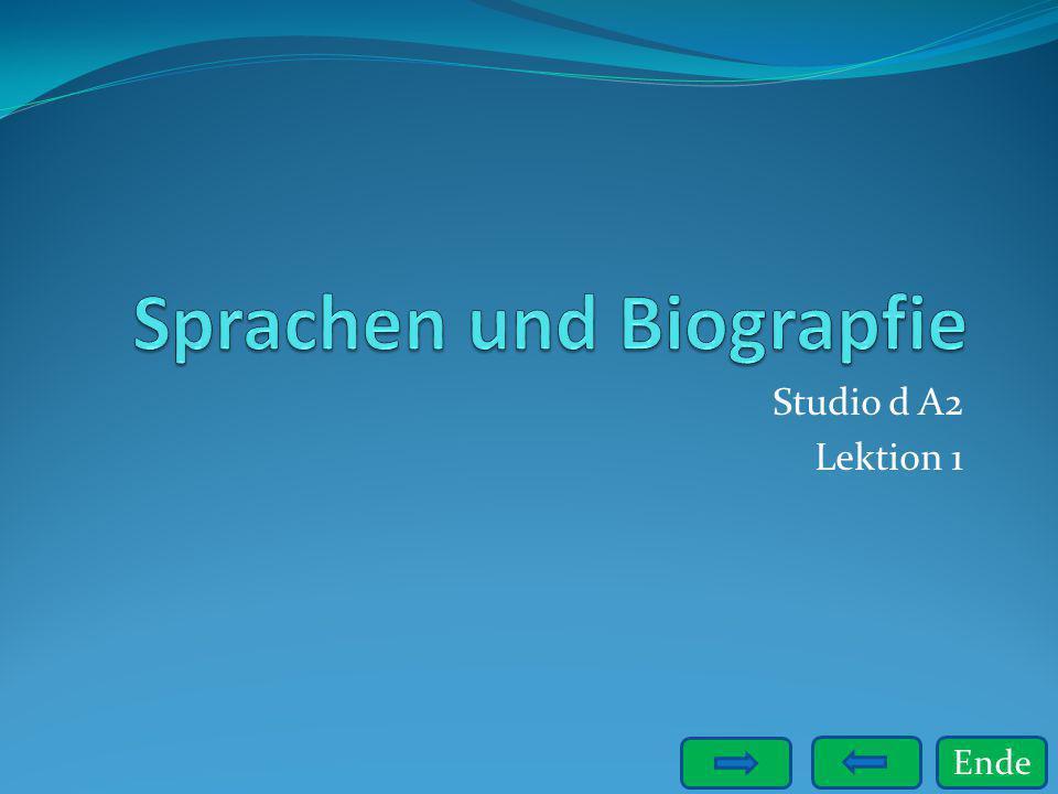 Sprachen und Biograpfie