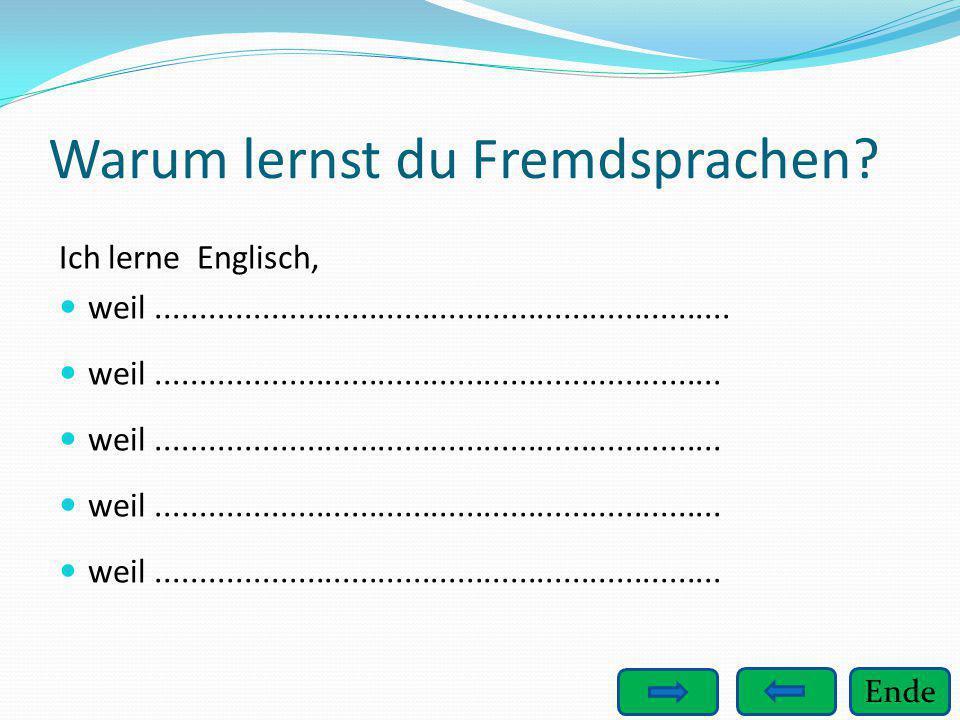 Warum lernst du Fremdsprachen