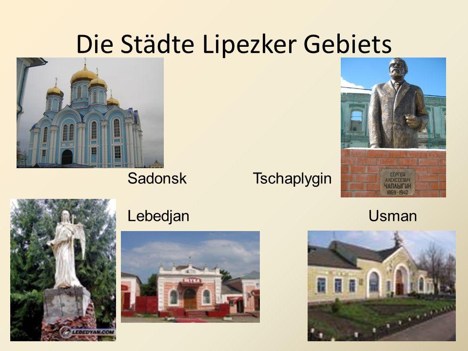 Die Städte Lipezker Gebiets