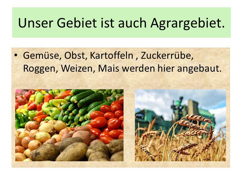 Unser Gebiet ist auch Agrargebiet.