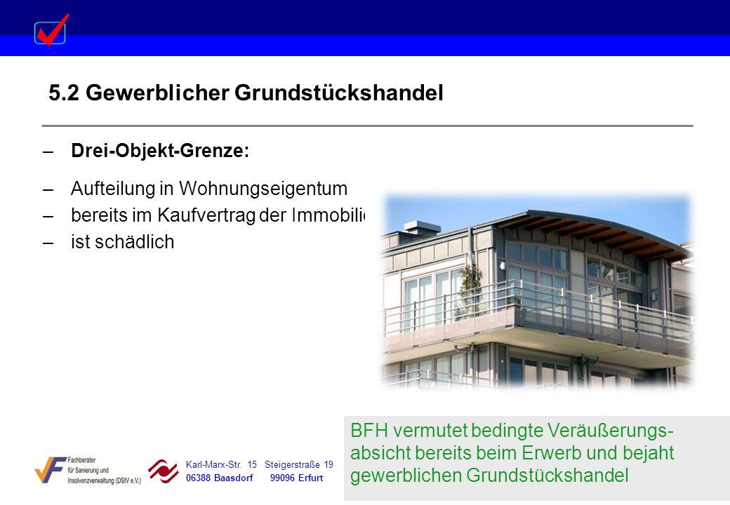 5.2 Gewerblicher Grundstückshandel