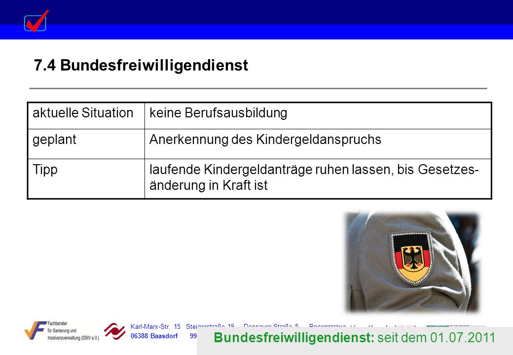 7.4 Bundesfreiwilligendienst
