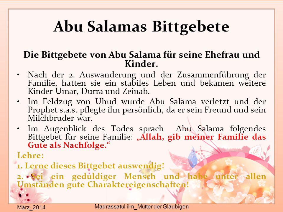 Abu Salamas Bittgebete