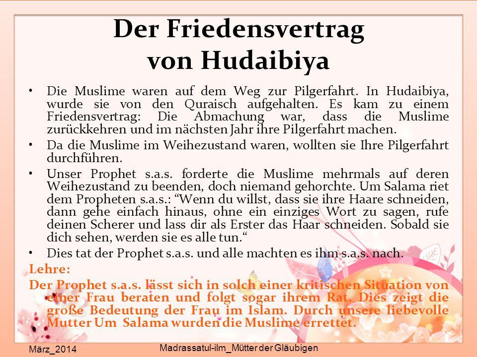 Der Friedensvertrag von Hudaibiya