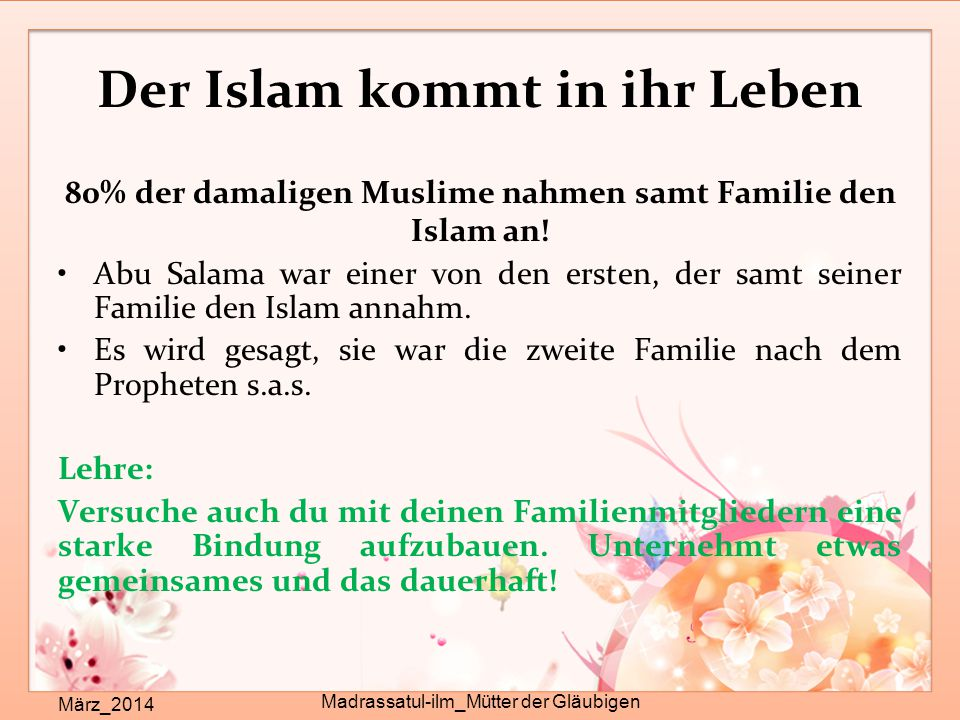 Der Islam kommt in ihr Leben