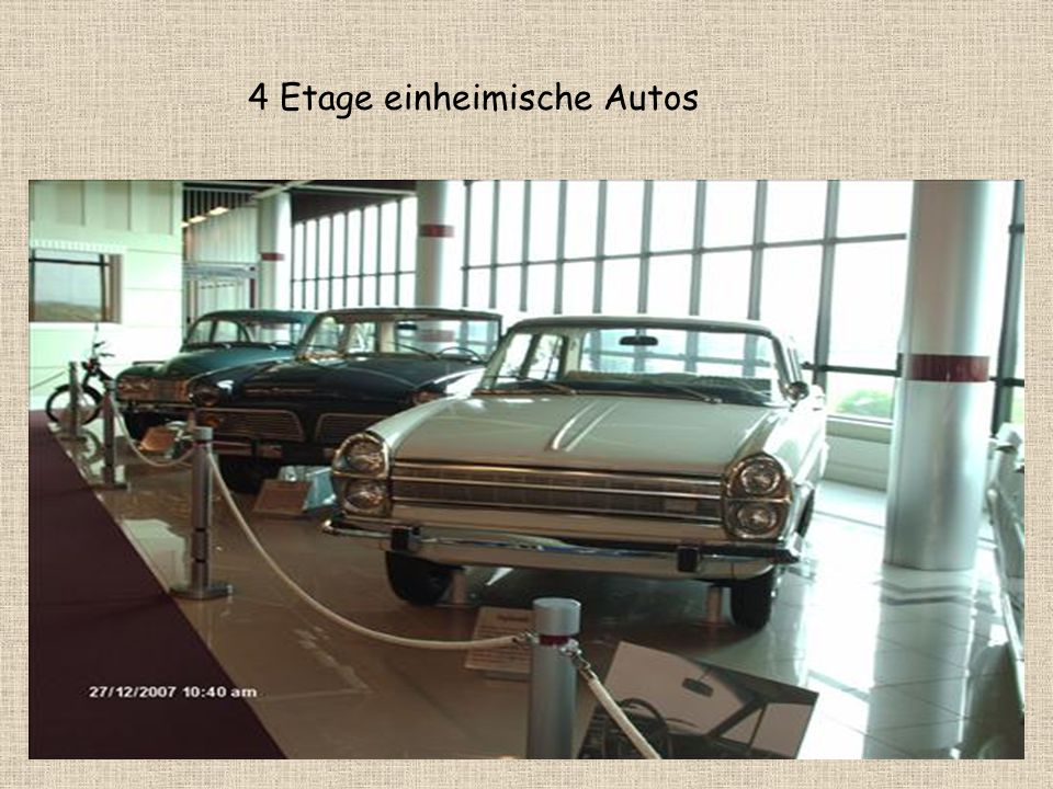 4 Etage einheimische Autos