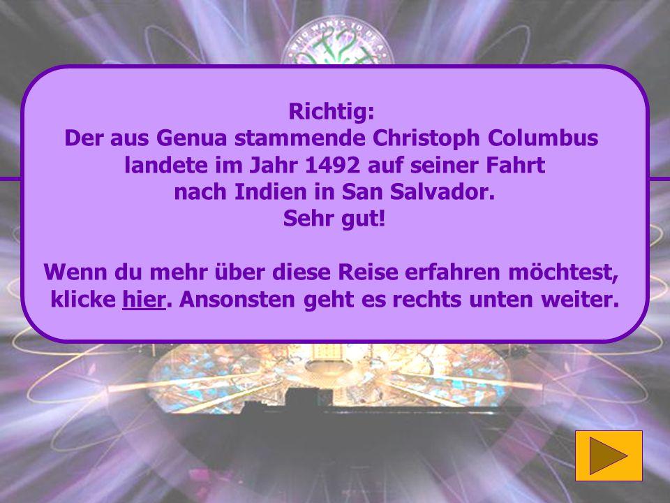Der aus Genua stammende Christoph Columbus