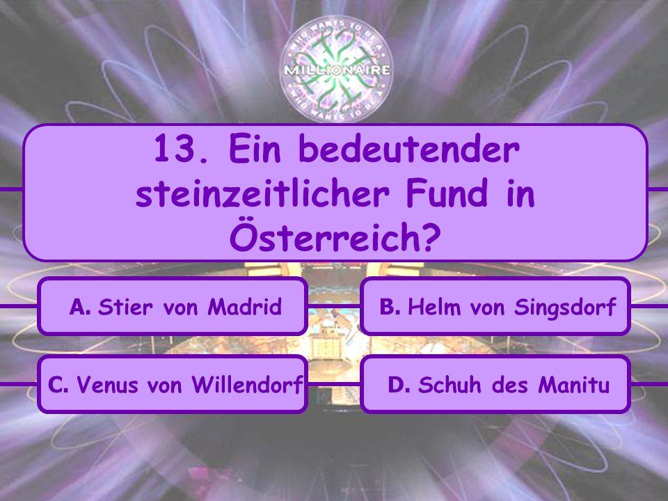 13. Ein bedeutender steinzeitlicher Fund in Österreich