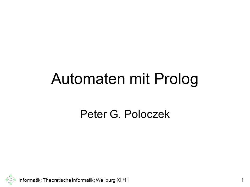 Informatik: Theoretische Informatik; Weilburg XII/11