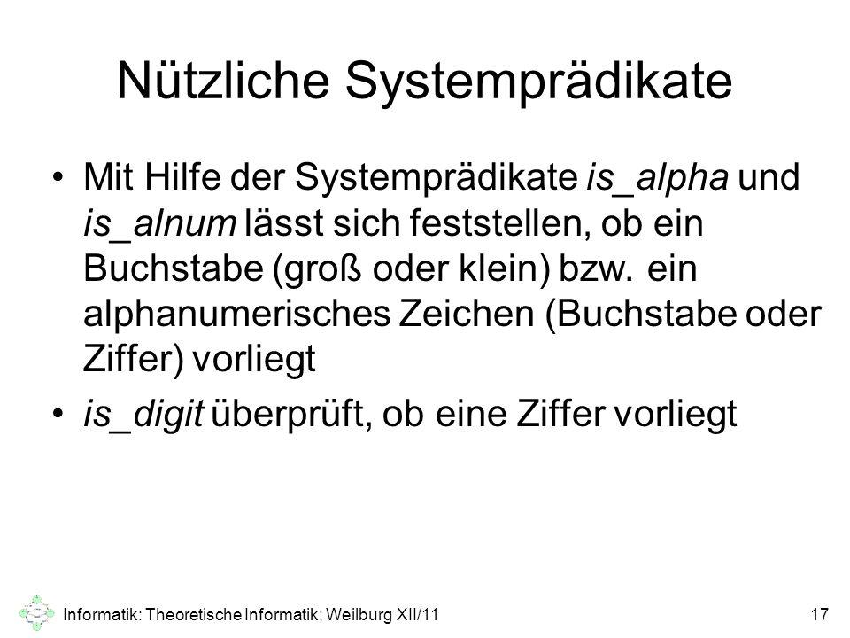 Nützliche Systemprädikate