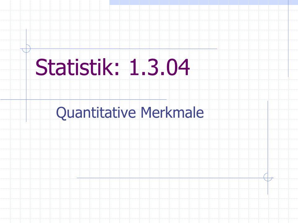 Quantitative Merkmale