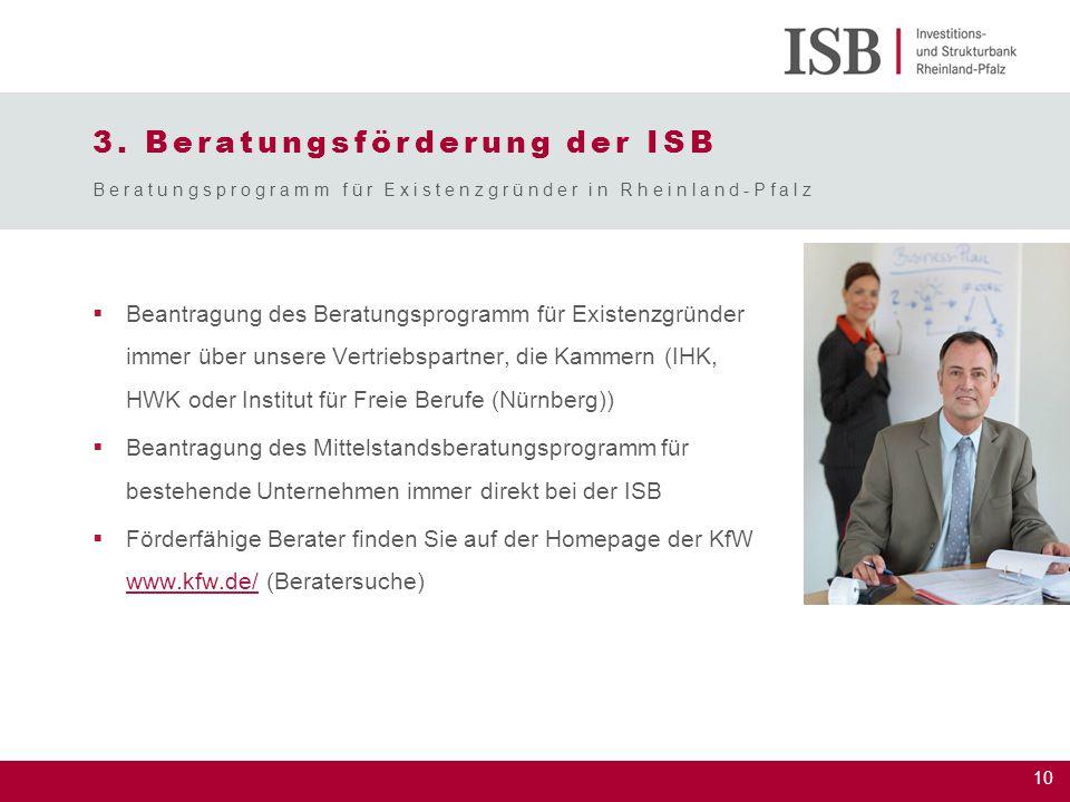 3. Beratungsförderung der ISB