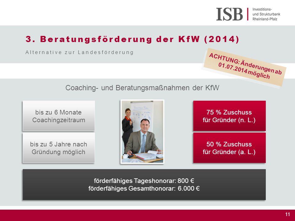 3. Beratungsförderung der KfW (2014)
