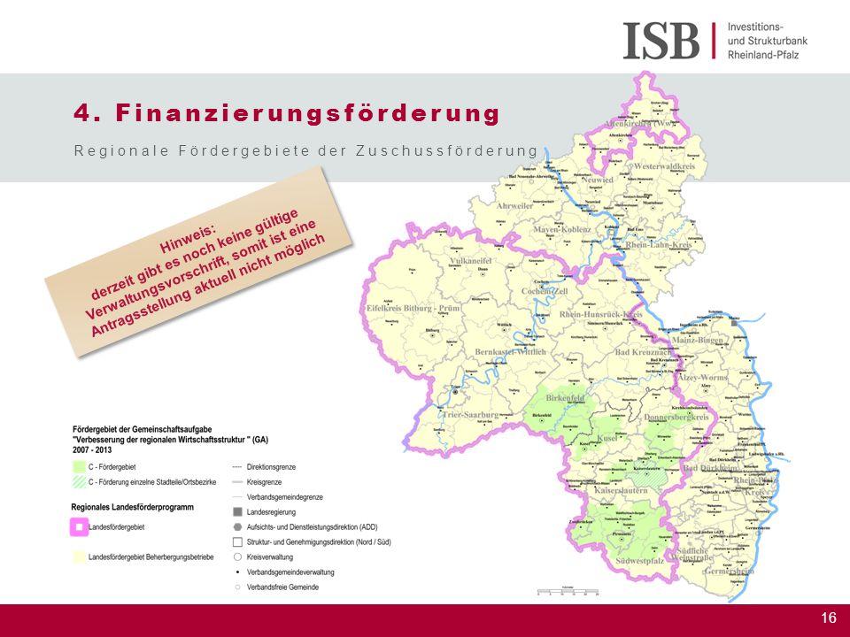 4. Finanzierungsförderung
