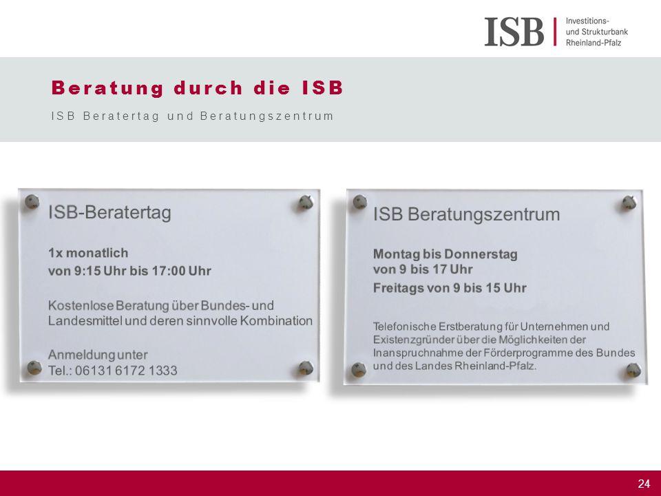 Beratung durch die ISB ISB Beratertag und Beratungszentrum
