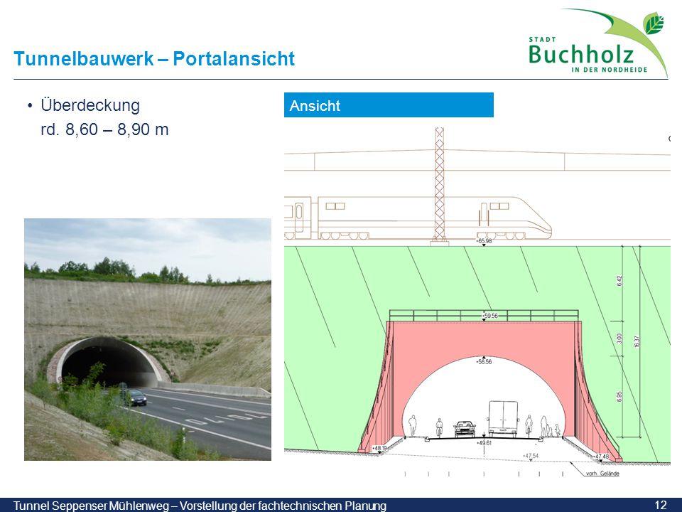 Tunnelbauwerk – Portalansicht