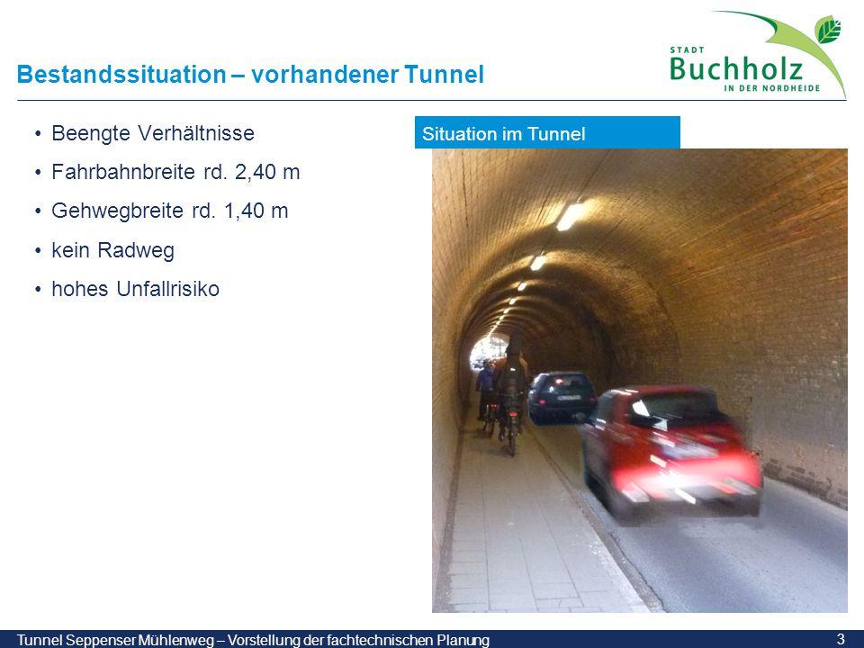 Bestandssituation – vorhandener Tunnel